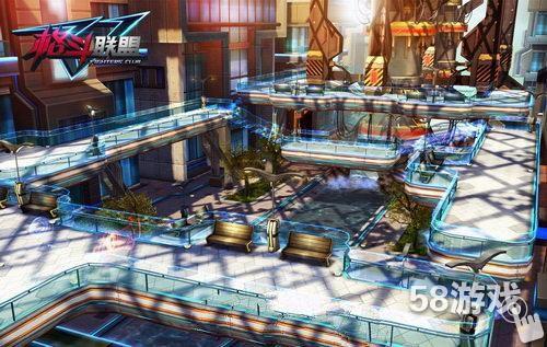 3d横版格斗《格斗联盟》未来都市场景截图曝光