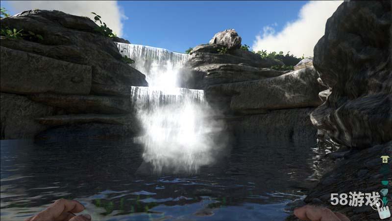 游戏特色:   1. 开放环境,自由探索  林间穿流而过的一条小河沟,是玩家补水的好地方。  林间也会有这样的小型瀑布和水塘。  这是神秘的远古遗迹,还有很多奥秘等待玩家去揭示。  潜入海底跟鲨鱼刚个正面如何?  岛上的小山丘上,有头翻滚的小恐龙。  夕阳,湖边,猎人与他的龙。   《方舟:生存进化》由虚幻4引擎打造,游戏虚拟了一个完整而庞大的神秘岛屿,孤岛、海滩、森林、丘陵等场景一应俱全,并且除开体力、耐力、饥饿和口渴限制之外,玩家可以自由探索岛上的任何一个地方。   在该作中,我们的主角也并非是无脑
