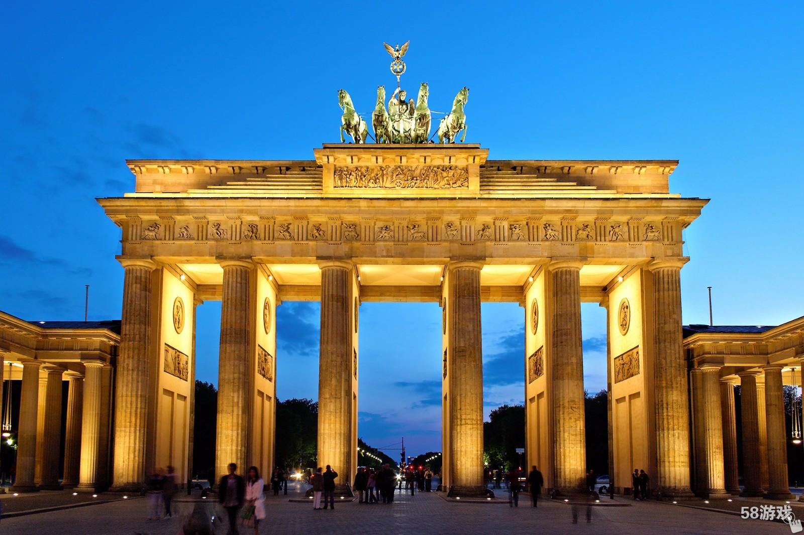 德国的首都_位于德国首都柏林的勃兰登堡门